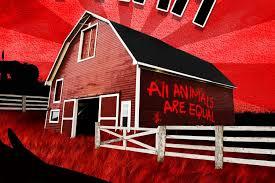 """""""Rebelión en la granja"""" de George Orwell."""